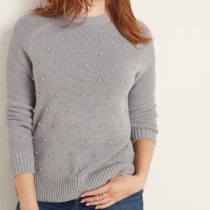 Old Navy | Pom Pom Grey Crew Neck Sweater | XL